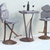 Bar Set Stationary Stools