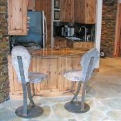 Stone Bar Stools Stationary