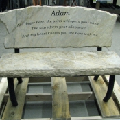 Engraved Memory Bench,