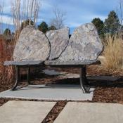 Lone Tree Bench, Stone Bench