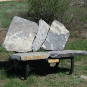 Red Feather Lakes Bench, Stone Bench