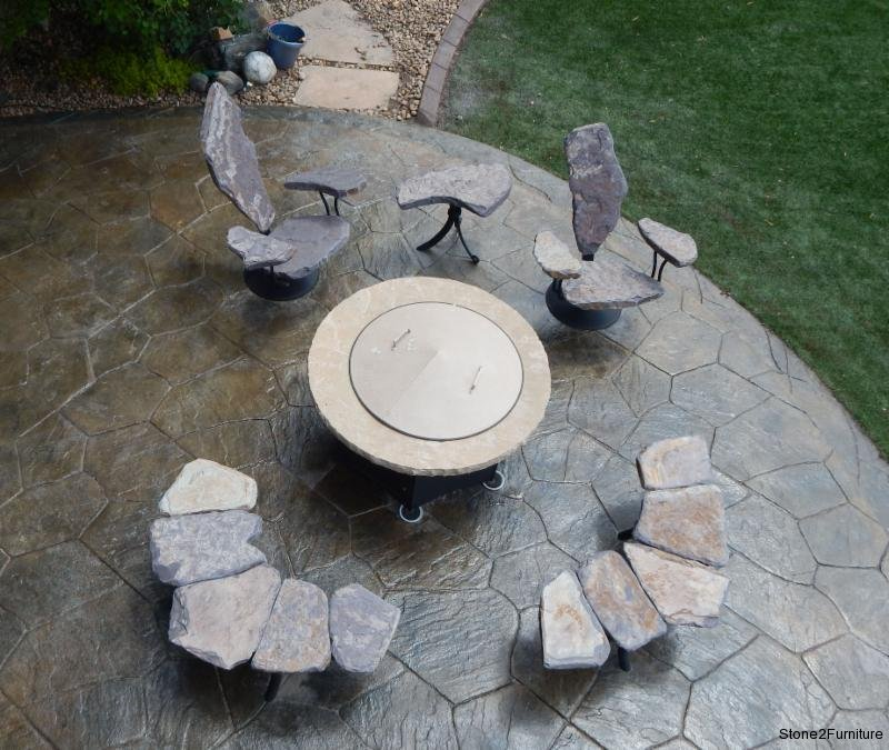 Stone Furniture Fire Pit