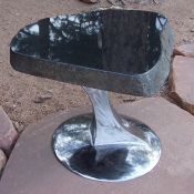 Polished Black Granite Table, Stone Table