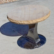 Round with Sculpted Base