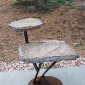 Rustic 2-Tier Table