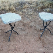 Small End Tables White Stone