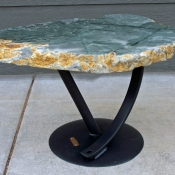 Polished Green Marble Swoosh Table