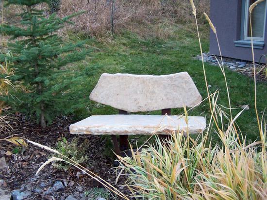 Stone Bench White