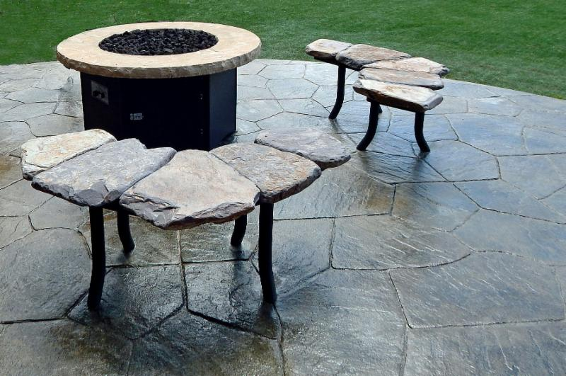 Stone Bench Curved